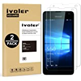iVoler [2 Pack] Pellicola Vetro Temperato Microsoft Lumia 550 [Garanzia a Vita], Pellicola Protettiva Protezione per Schermo per Microsoft Lumia 550