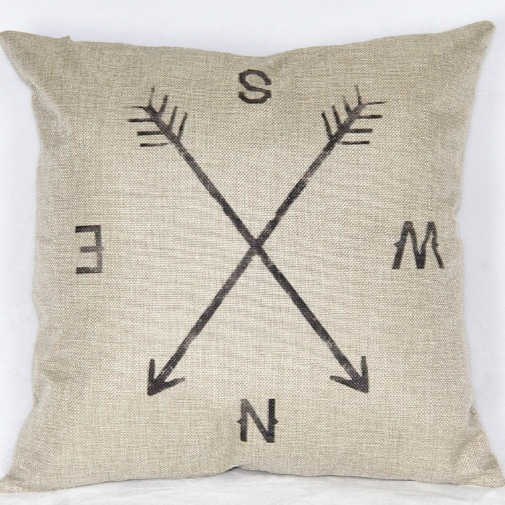 Compass Throw Pillow Cover $1.