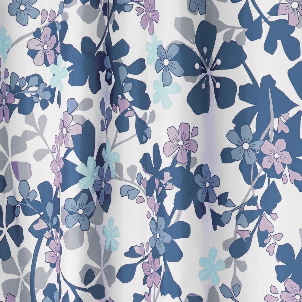 grand rideau de douche en polyester avec motif floral lavande//bleu InterDesign Petite Floral rideau salle de bain pour douche ou baignoire
