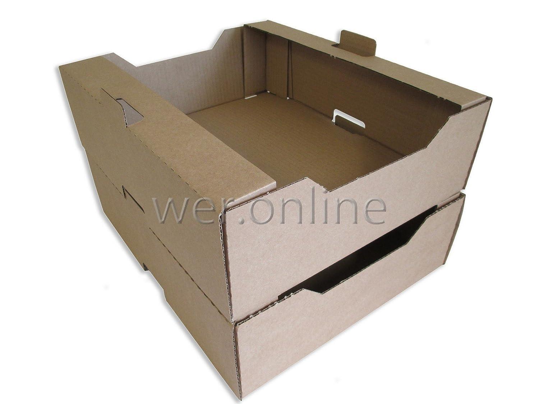 Unidades 50 Fresh de fruta y vegetales de pared cajas de cartón de bandejas~- 36,83 cm x 30,48 cm x 10,16 cm/372 mm x 309 mm x 109 mm: Amazon.es: Hogar