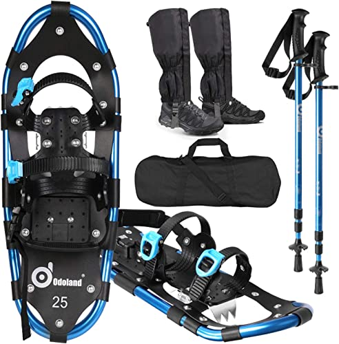 Odoland 4-in-1 Snowshoes Snow Shoe