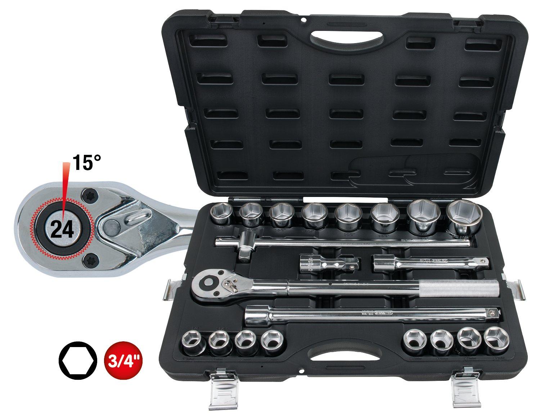 21/PCS KS Tools 911.0722/3//10,2/cm Socket Set
