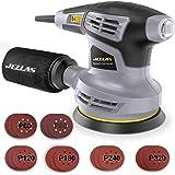 Jellas 5-Inch Random Orbital Sander with 18Pcs Sandpapers, 13000RPM 6 Variable Speed Sander Machine, High Performance Dust Co