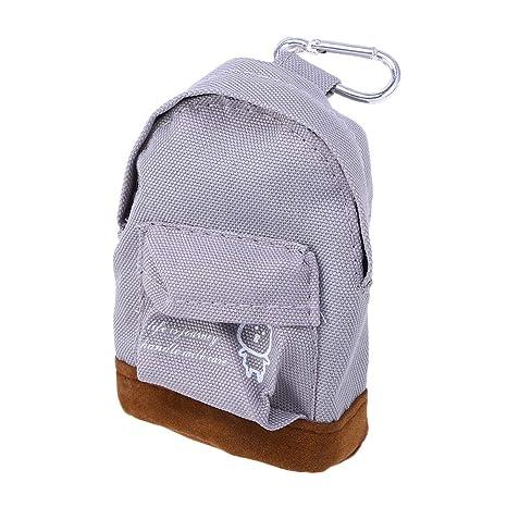 Mini mochila de tela Oxford, monedero, llavero, llavero ...