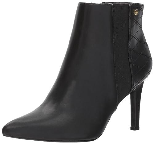Calvin Klein Women's Bestie Ankle Boot, Black, 7 Medium US