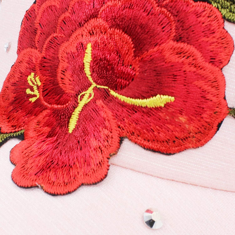 Rhinestones Baseball Cap Spring Floral Snapback Summer Cap for Girl Fitted Cap Women Men Autumn Hat