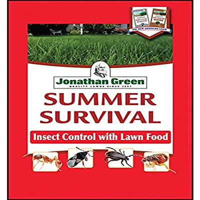 Jonathan Green 12015 Summer Survival Insect Control Plus Lawn Fertilizer, 13-0-3, 15M: Garden & Outdoor