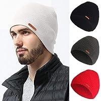 melysEU Unisex Daily Knit Ribbed Beanie Winter Warm Solid Copricapo Elastico Caldo Beanie Hats per Uomini e Donne