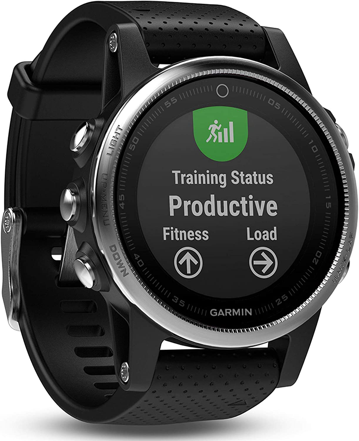 Garmin Fenix 5S Plus - Reloj GPS multideporte, color negro