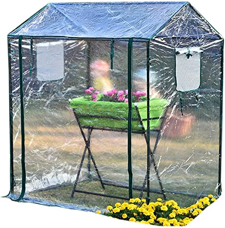 Invernaderos Plastico huerto terraza pequeño - Mini jardín Casa Verde Ideal para la propagación de Semillas y Plantas, 125 × 85 × 150 cm: Amazon.es: Hogar