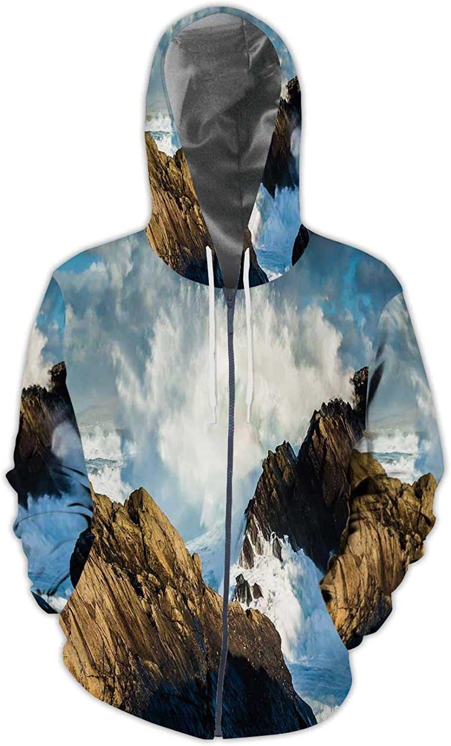 Colorful Background with Zodiac s.Illustration,Mens Print 3D Fashion Hoodies Sweatshirts S