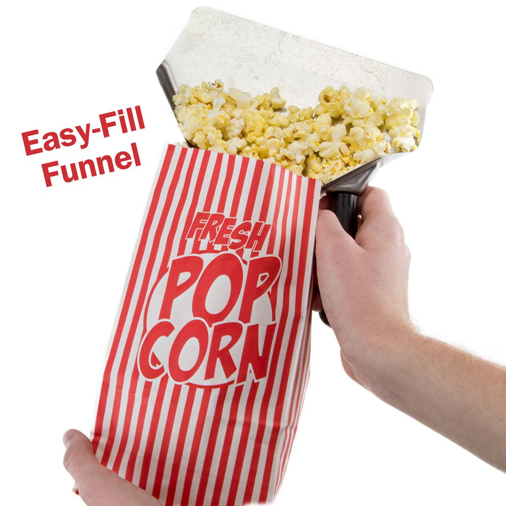 Stainless Steel Popcorn Scoop – Easy Fill Tool for Bags & Boxes, Great Utility Serving Scooper for Snacks, Desserts, Ice, & Dry Goods by Back of House Ltd. by Back of House Ltd. (Image #4)