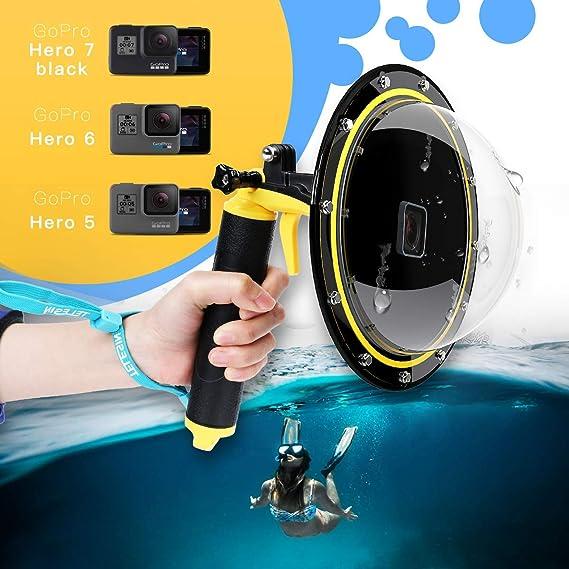 Immersione subacquea a Cupola Porta Case Lens Kit per GoPro Hero 7 6 5 Nero MacChina Fotografica