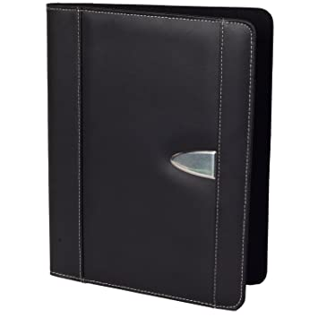 resume portfolio padfolio genuine bonded leather portfolio with replaceable a4 letter size writing pad document
