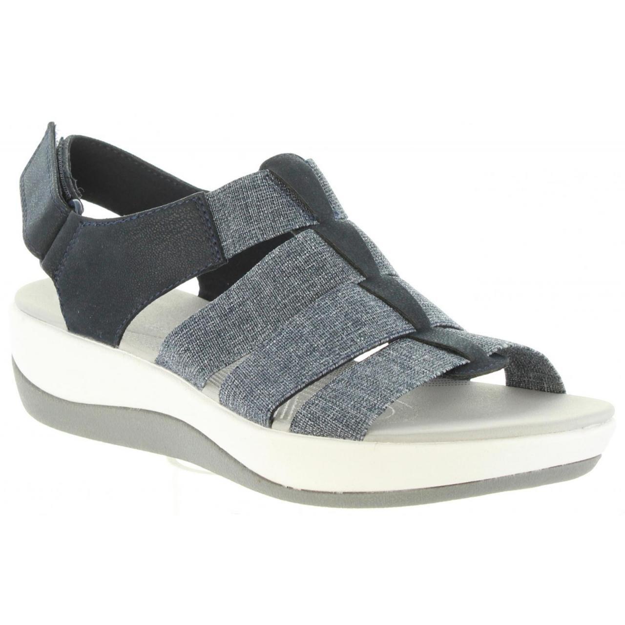 Clarks Sandalen für ARLA Damen 26128907 ARLA für Navy-Weiß Navy 6dd2c0