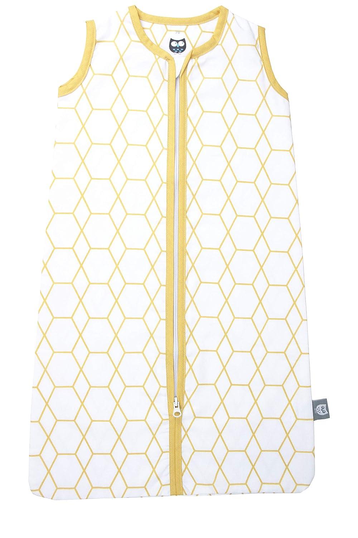 ocker und wei/ß ma/ße 90 cm mit Rei/ßverschluss Sommerschlafsack grid hochwertige qualit/ät Briljant Baby