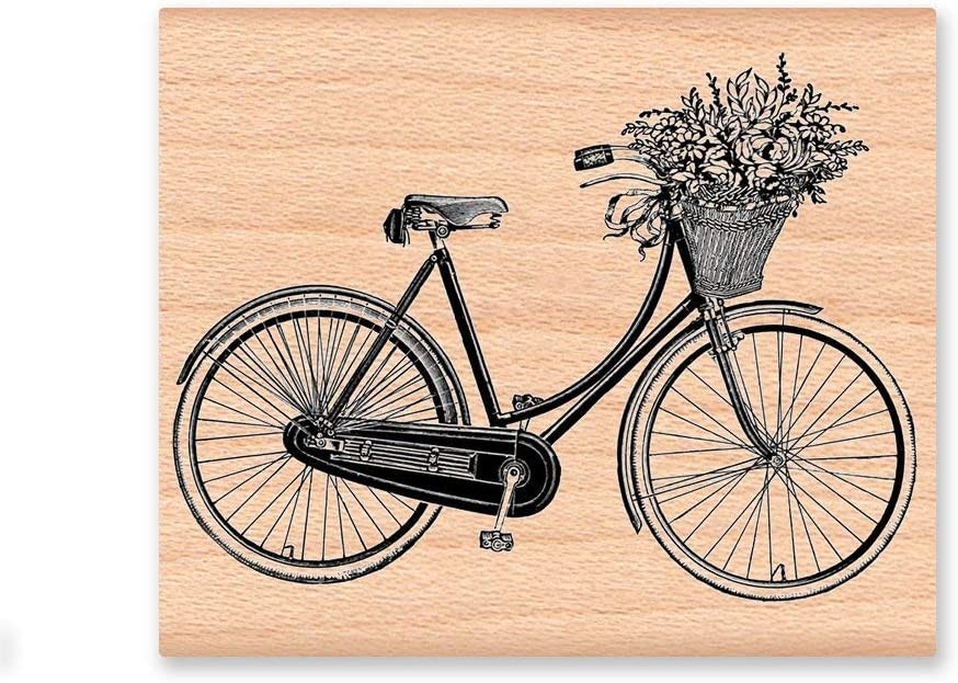 Claude16Poe Vintage Bicycle - Letrero de Madera para Bicicleta y Cesta de Flores, para Mujer Vieja, tamaño Grande o pequeño: Amazon.es: Jardín