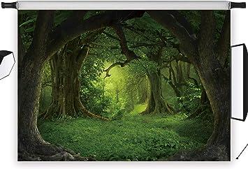 LB 5x7ft Jungle Photography Backdrop Forest Headlamp Plant Stone Road Photo Background Studio Prop Customized QT262