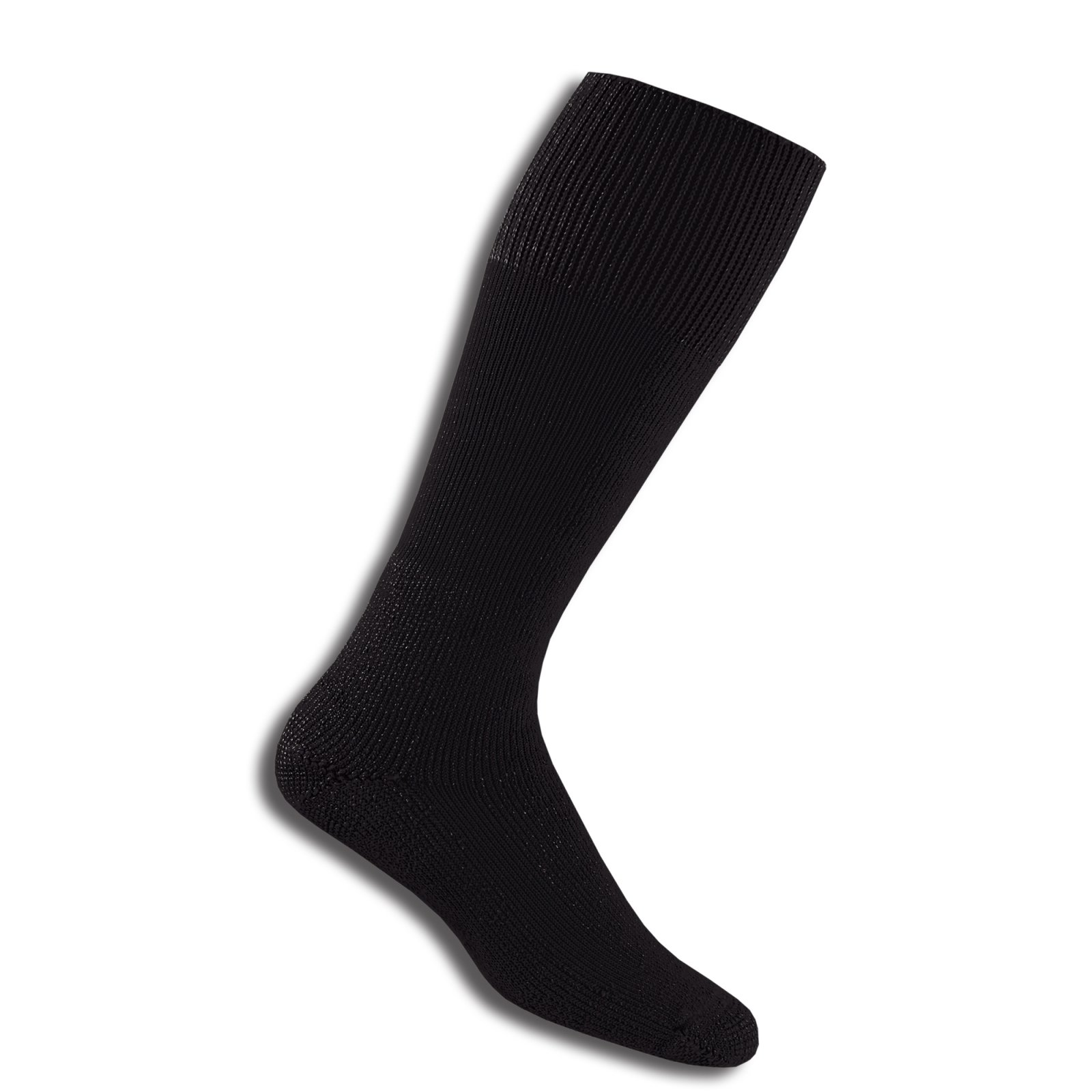 Thorlos Thick Cushion Combat Boot Over Calf Sock Size: L, Black with a Helicase Sock Ring