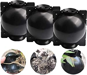 3Pcs Plant Root Growing Box, Assisted Cutting Rooting, Reusable High Pressure Propagation Ball Fertilizers Box Grafting, Effective Asexual Reproduction Equipment for Garden Growing Breeding(L/4.7inch)