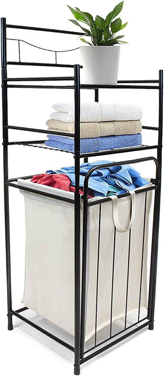 Sorbus Bathroom Tower Hamper Organizer Features Tilt Out Laundry Hamper And 2 Tier Storage Shelves Great For Bathroom Laundry Room Bedroom Closet Nursery And More Home Improvement
