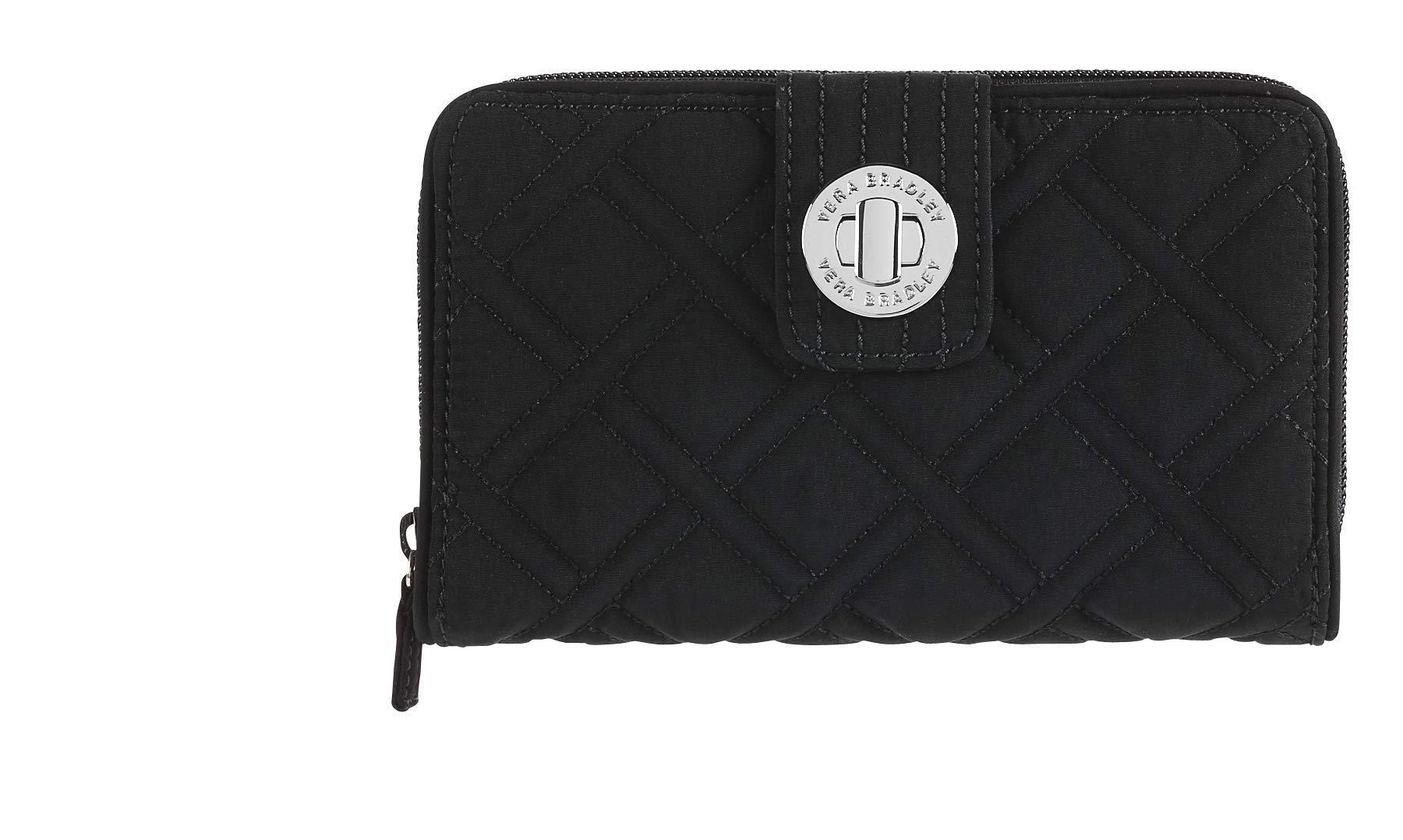 Vera Bradley Turnlock Wallet, Classic Black, One Size