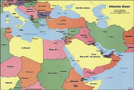 Amazon.com : 20x30 Poster; Cia Map Of Middle East 1990 Iraq ... on yemen map, mesopotamia iraq map, syria map, greece map, oman map, al-asad iraq map, us military iraq map, china map, khorsabad iraq map, jordan map, nimrud iraq map, tehran iraq map, lalish iraq map, islamic state iraq map, muqdadiyah iraq map, kuwait map, india map, raqqa iraq map, sumeria iraq map, world map,