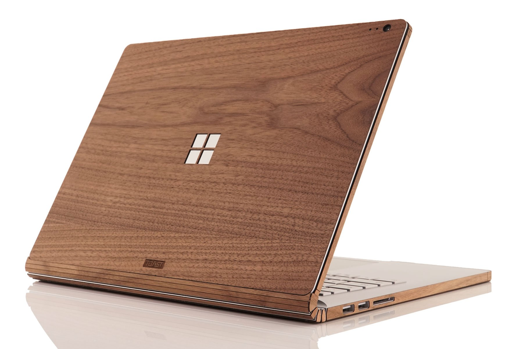 Toast MSB2-15-WIN-01+BOT Real Wood, Walnut Cover for Microsoft Surface Book 2 with Windows Logo Cutout, 15''