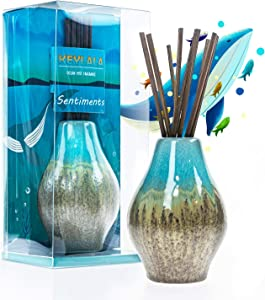 KeyLaLa Reed Diffuser for Home, Cute Home Fragrance Gift Set Ocean Mist Scent Aromatherapy Oil Refill for Home/Bathroom/Kitchen/Office Elegant Decorations -1.7 fl oz Essential Oil Diffuser…