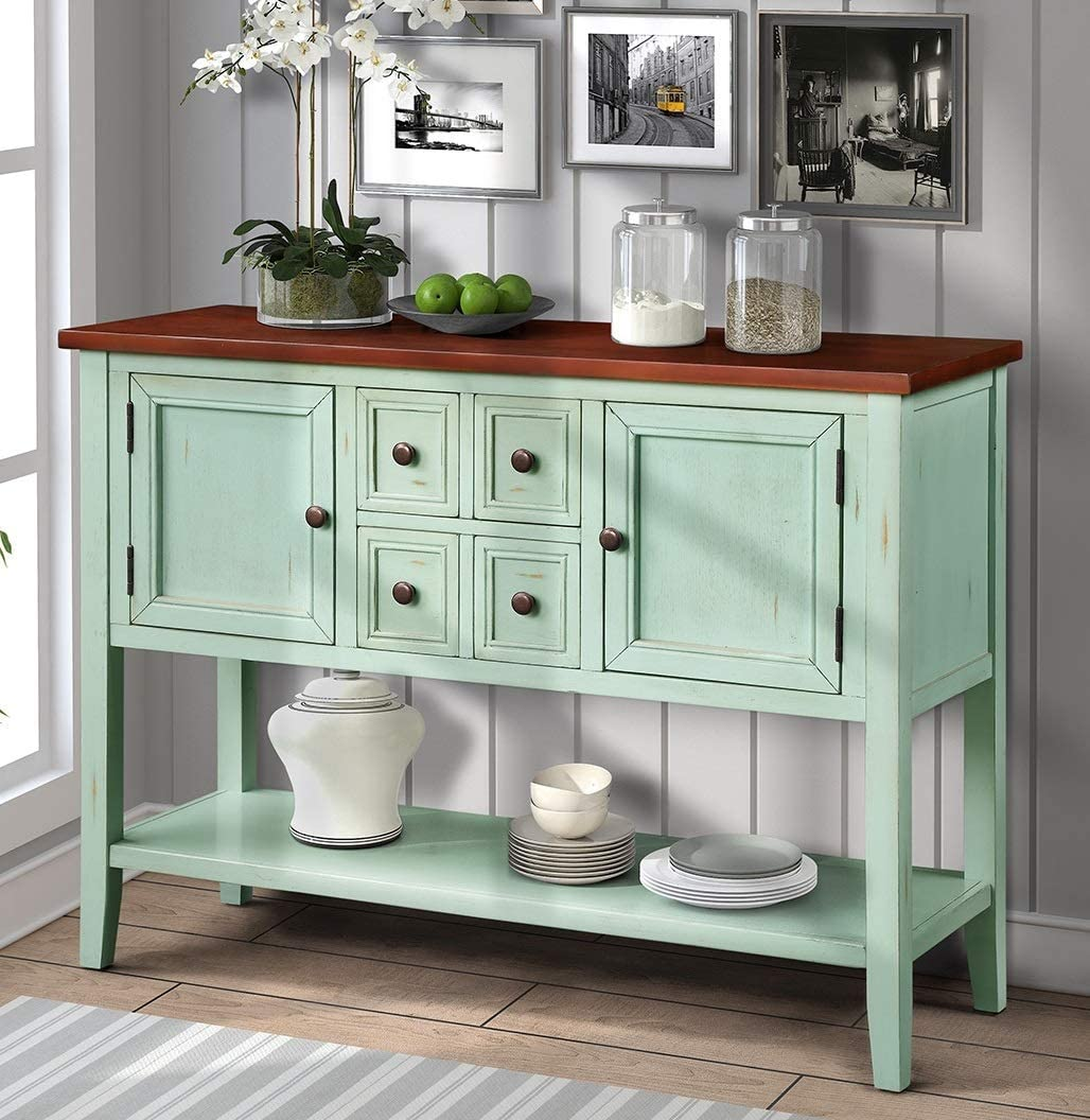 Buffet Sideboard Server Cupboard Cabinet Console Table with Storage Drawer Home