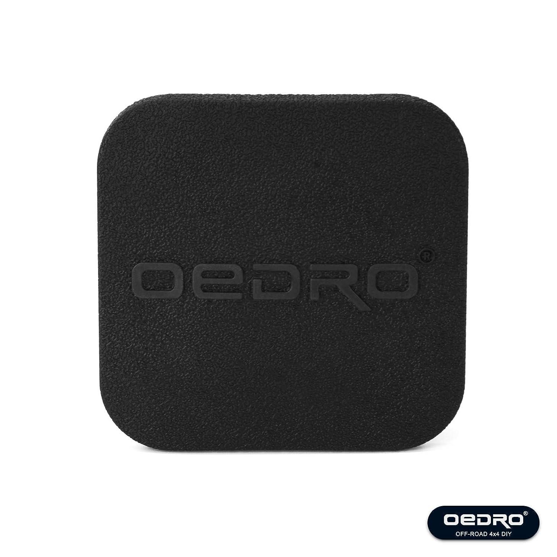 oEdRo 2 inch Trailer Hitch Tube Rubber Cover Plug Universal Black Trailer Hitch Cover Tube Plug Insert