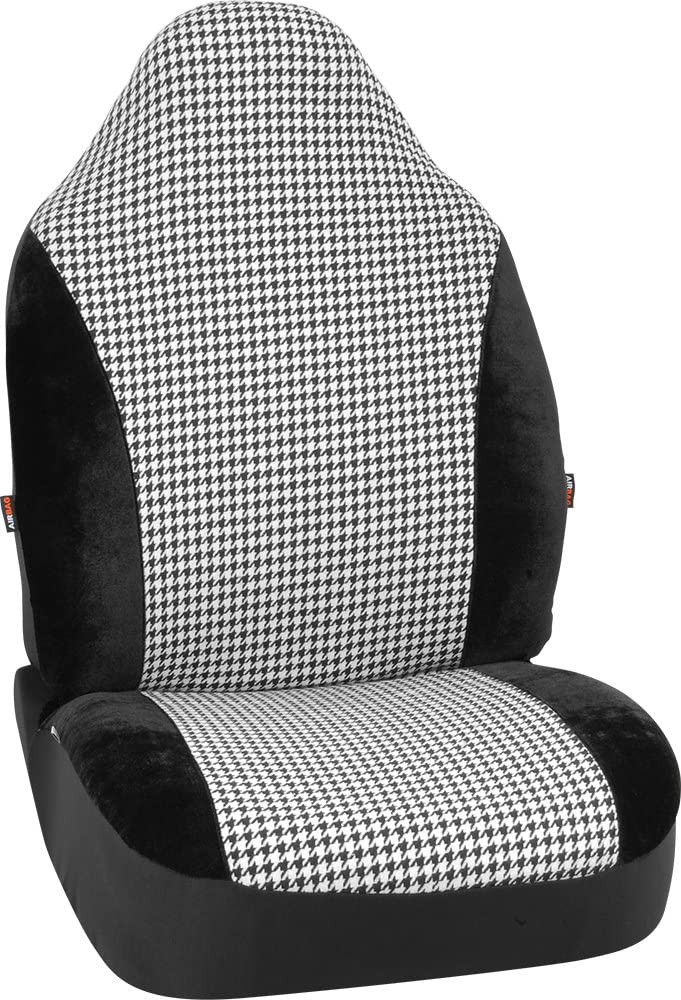 Bell Automotive 22-1-56775-9 Black//White Houndstooth Universal Bucket Seat Cover