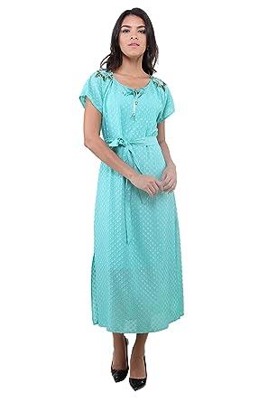 182e10da8a1e7 3258 Dodona Yeşil Şık Abiye Gece Yazlık Elbise: Amazon.com.tr: DODONA