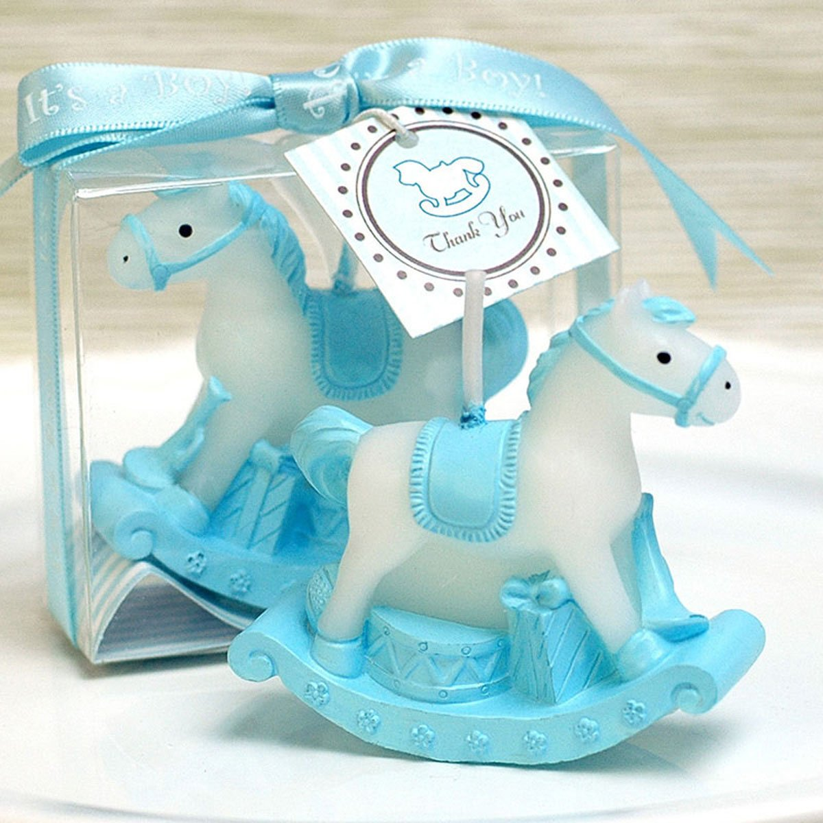 Cartoon Romantic Fantasy Carriage Charming Gifts Party Candles Smokeless Candles Birthday Candles for Baby Shower and Wedding Favor Keepsake Favor (10, Blue)