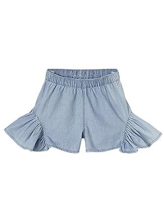 VERTBAUDET Falda con Short y Tirantes para niña Azul Claro Lavado ...