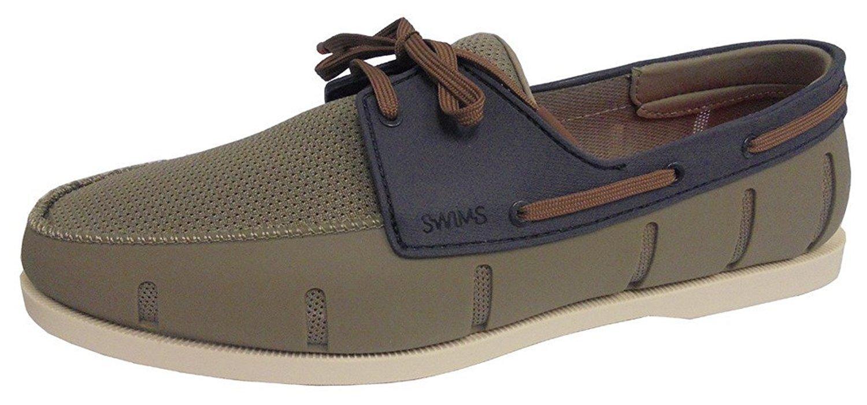 Swims Mens Boat Loafer Khaki/Navy Size 10.5
