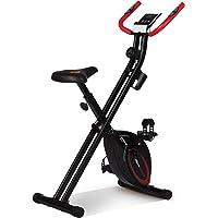 Ultrasport F-cykel, cykeltränare, motionscykel, vikbar träningscykel med träningsdator och handpulssensorer, vikbar