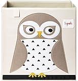 3 Sprouts Storage Box, White Owl