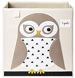 Amazon Price History for:3 Sprouts Storage Box, White Owl