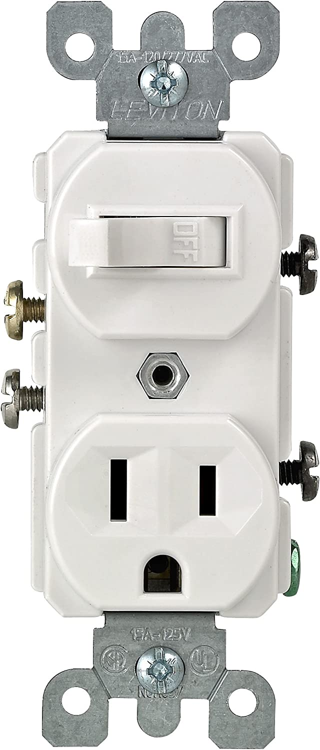 [SODI_2457]   Leviton 5225-WSP Combo Switch and Receptacle, White - Wall Light Switches -  Amazon.com | Leviton T5225 Wiring Diagram |  | Amazon.com