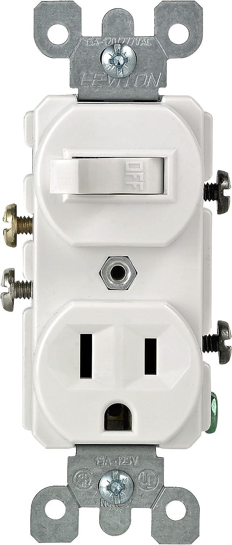[SCHEMATICS_48EU]  Leviton 5225-WSP Combo Switch and Receptacle, White - Wall Light Switches -  Amazon.com | Leviton Combo Switch Wiring Diagram |  | Amazon.com