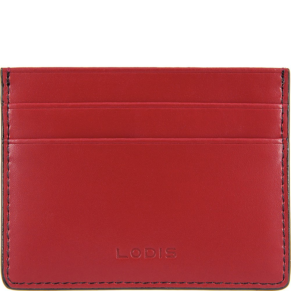 Lodis Accessories Womens Audrey RFID Mini ID Card Case Red Rfid One Size