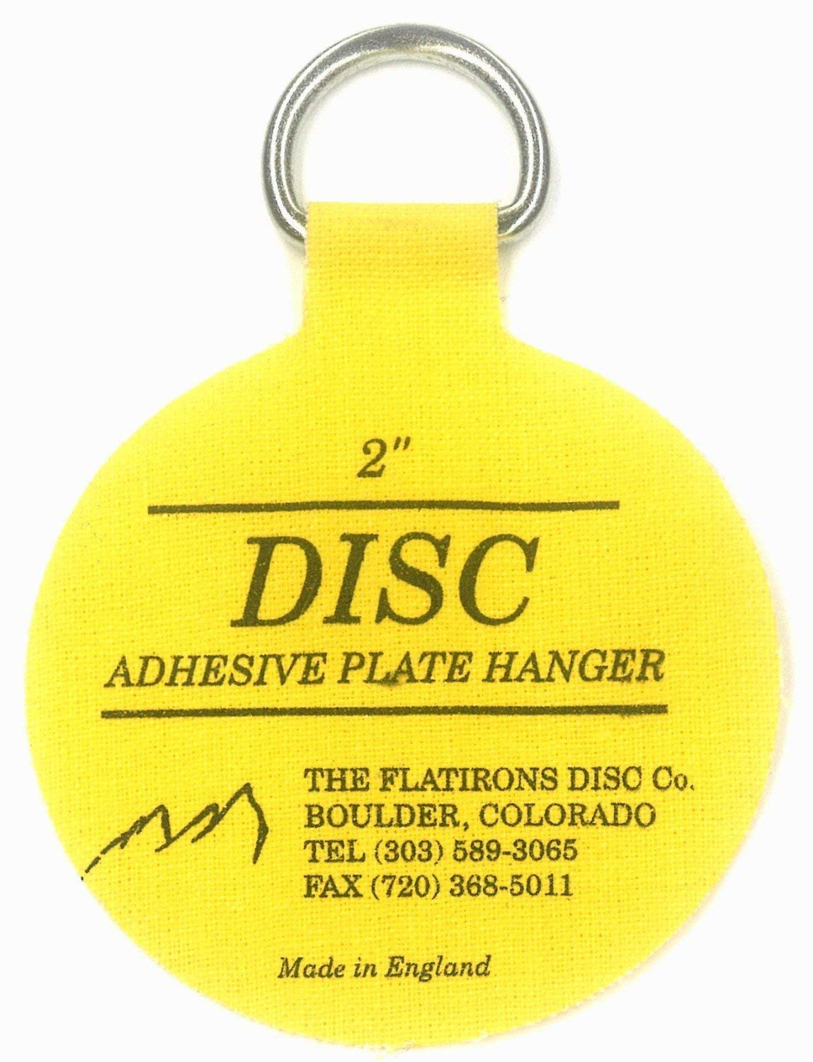 Flatirons Disc Adhesive Plate Hangers, 2 Inch, 4 Pack THE FLATIRON DISC Co.