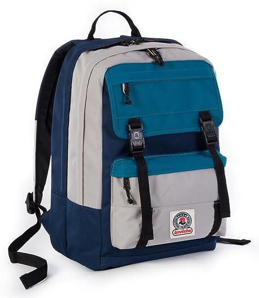 2 opinioni per ZAINO INVICTA- DUFFY- Blue Azzurro Grigio- tasca porta pc e Tablet padded-