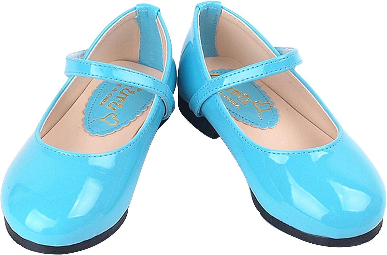 Milky Walk GURU-008 Girls Mary Jane Classic Flat Dress Shoes Toddler//Little Kid