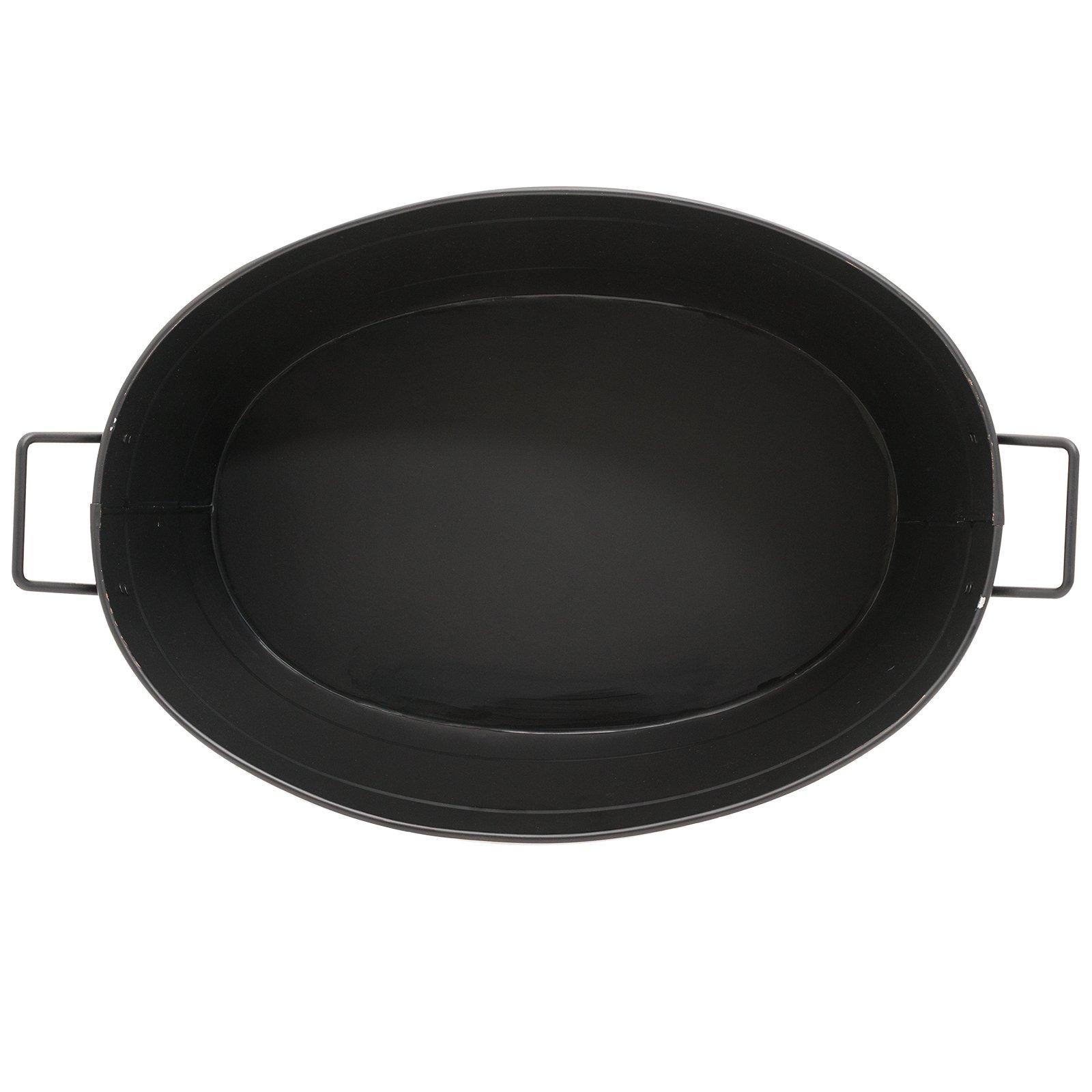 Achla Designs Black Oval Galvanized Steel Tub by Minuteman International (Image #5)