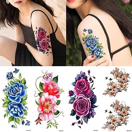 Tatuaje Pegatinas De Tatuaje Simulación Del Otro Lado De La Flor ...