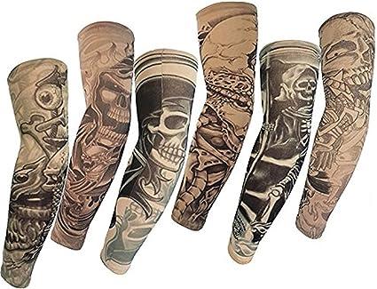 SHINA Hot Juego de 6 Novedosas Mangas de tatuajes temporales, para ...