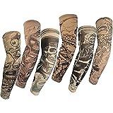 SHINA Hot Juego de 6 Novedosas Mangas de tatuajes temporales, para brazo, alta calidad