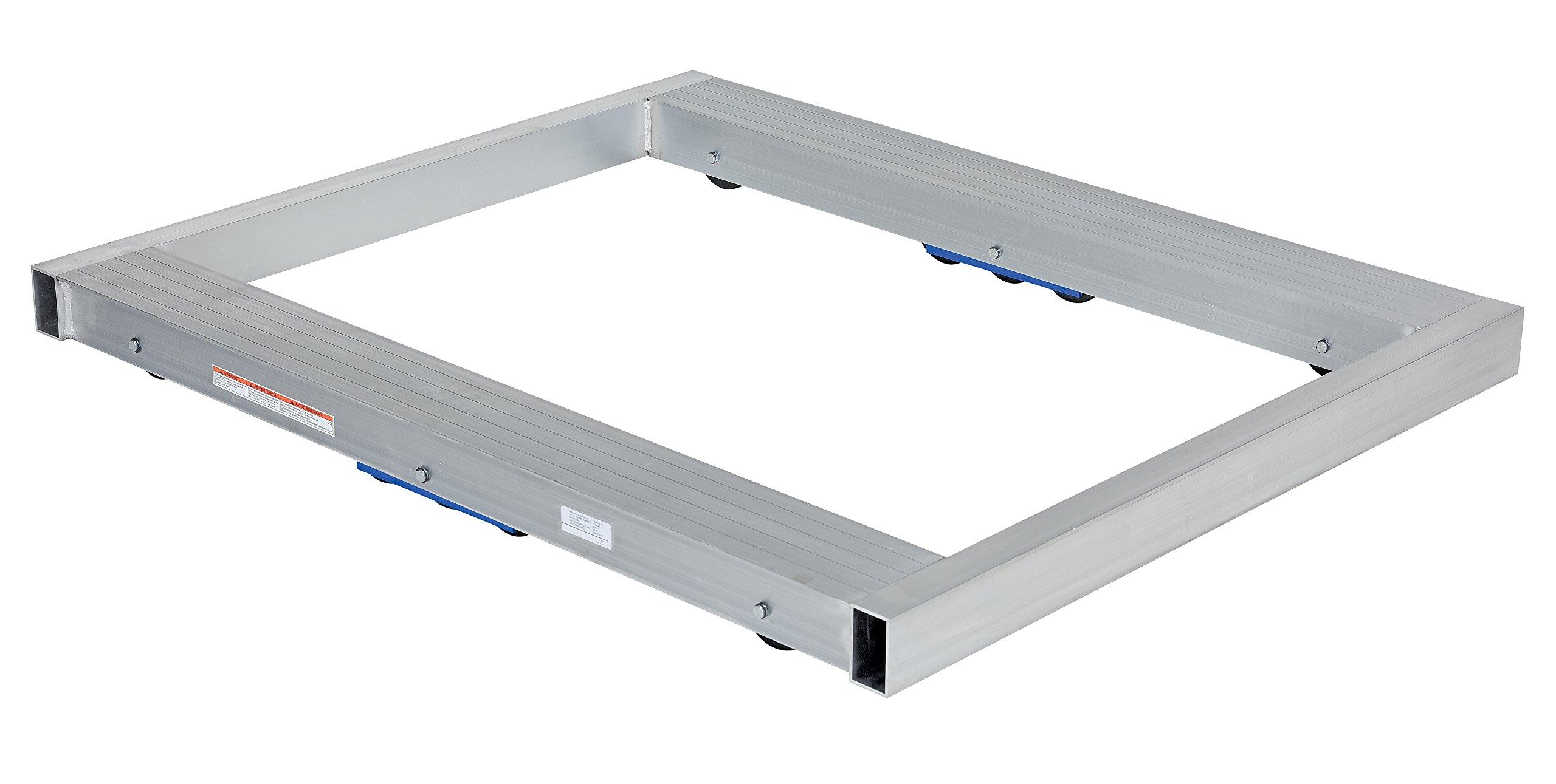 Vestil DOL-4048-10T Pallet Dolly, Tilting, Aluminum, 8,000 lb. Capacity, 4-1/8 x 40 x 48'' by Vestil